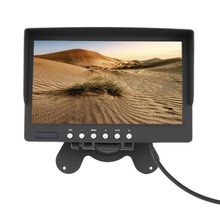 7 Inch LCD Monitor 800x480 TFT Color Screen Two Video Input One Audio Input Remote Control Reverse Image CCTV Video(China)