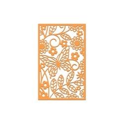 Трафарет для скрапбукинга «Бабочка и цветы»