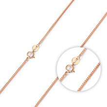 Classic Version Of Jewelry Rose Gold Color Box Chain Necklace With A Single Strand