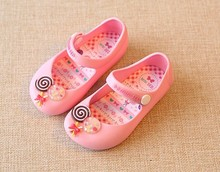13-15.5cm children beach Sandals Mickey Minnie owl bow candy kids toddler little girls jelly shoes footwear style mini SED