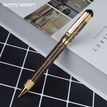 MONTE MOUNT unique Green pattern Gold Clip Ballpoint Pen Office School Stationery new style luxury  brand Writing ball pen