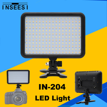 On-Camera Video Fill Light INSEESI IN-204 Bulbs Dimmable 3200K~5500K Canon Nikon Sony Pentax DSLR Camera Camcorder - Accessories Paradise store