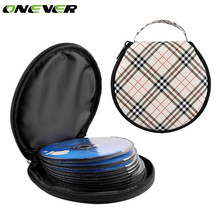 Onever Portable Car 20 Disc CD DVD Case Storage Holder Bag Carry Case Organizer Holder Grid Pattern for Home Car CD Storage(China)