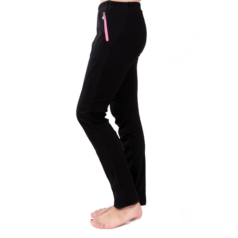 LANCE SOBIKE Womens Cycling Winter Tight Windproof Pants Windout Breathable Reflective Black Pink XS--XXL Mountain Bike Outdoor<br>