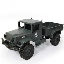 Military RC Truck 2.4G Four Wheel WPLB-14 Off Road Vehicle Remote Simulation Of Military Vehicle Climbing Toy Car Dirt Bike(China)