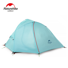 Naturehike tent 1-2 person ultralight hiking camping proof Rain Rainstorms tent blue gray(China)