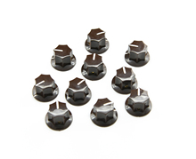 "KAISH 10pcs USA Spec  Large Knobs 1/4"" MXR Style Jaguar Mustang Knob Brown"