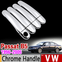 for VW Passat B5 B5.5 Chrome Handle Cover Trim Set Volkswagen 1996-2005 Sedan Wagon 2003 Car Accessories Stickers Car Styling(China)