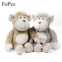 FoPcc Christmas Gift 25cm Monkey Plush Toy with Mouth Original Stuffed Animal Sock Monkey Doll Kids Toy Birthday Gift Gray(China)