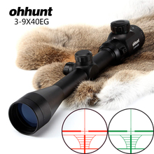 Ohhunt 3-9X40 Rangefinder Reticle Red Green Illuminated RifleScope Hunting Crossbow Rifle Scope For .177 .22 Caliber Airguns(China)