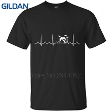 create my own shirt jersey Designs tee shirt Retro Round Collar black Drums Heartbeat Ecg men's t-shirts