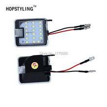Hopstyling 2x High Bright LED Puddle Lights For Ford mondeo mk4 IV 07-2014 Led under mirror Light Auto Replacement(China)