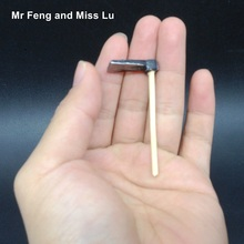 Chinese Culture Farmer Farm Tools Miniature Resin Hoe Model Micro Toy Kid Game