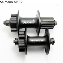 SHIMANO Aluminum alloy FH-M525 HB-M525A disc brake hub six bolt cassette seal bead hubs 32 36 hole rear front hub quick release(China)