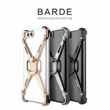 Nillkin Original Bumper Cover Case For Xiami 6 Mi6 Barde Mental Case with Ring Holder Stand DIY Aluminum Alloy For Xiaomi 6
