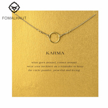 The original karma necklace Pendant necklace Clavicle Chains Fashion Statement Necklace Women FOMALHAUT Jewelry