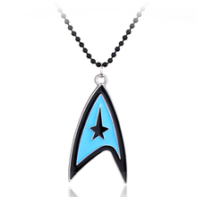 Movie Star Trek Logo Necklace Metal Necklace Charm Pendant Silver Plated Men Women Communicator Best Friend Gift -30(China)