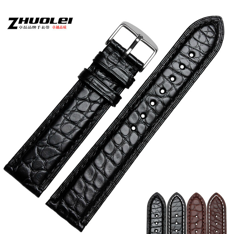 18mm 19mm 20mm 21mm 22mm 23mm 24mm NEW Quality Unisex Crocodile Genuine Leather Black Brown WristWatch Bands Womens Mens<br>