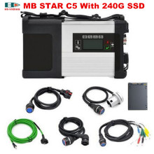 High quality MB STAR C5 for Mercedes Benz obd 2 connectors SD C5 and 2017/07 DTS Software SSD(240G) OBD2 car diagnostic tools