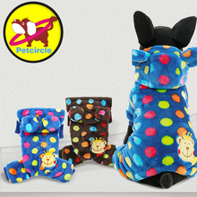 Genuine Petcircle New Warm Pet Dog Clothes Winter Rainbow Dots Dog Coats For Small And Large Dogs Pet Dog Hoodies Jackets(China)