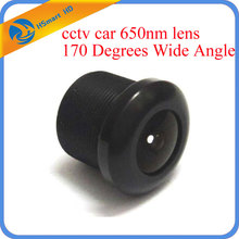 New 1.7mm cctv car 650nm lens 170 Degrees Wide Angle IR Board Lense for security camera(China)