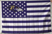 Baltimore Ravens USA Star and Stripes Team American Outdoor Indoor Hockey Football Flag 3X5 Custom USA Any Team Flag