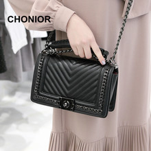 Buy 2017 New Brand Fashion Luxury Handbags Woman Chain Crossbody Shoulder Bags PU Leather Handbag Messenger Bag Designer for $30.40 in AliExpress store