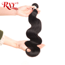 RXY Hair Raw Indian Hair Body Wave Bundles Deals Wet and Wavy Human Hair Bundles 10''-28'' 1pc 100% Remy Hair Bundles No Tangle(China)