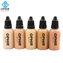 OPHIR Pro Airbrush Makeup Foundation Inks 5 Colors Air Foundation for Face Paint Make-up Salon Cosmetic Makeup Pigment_TA104