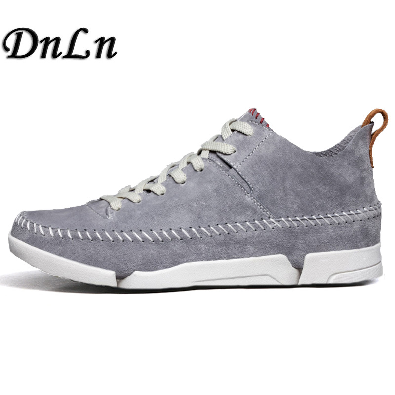 Size 38-44 New Style Genuine Cow Suede Leather Shoes Men Casual Comfort Man Shoes High Top Sneakers  D30<br>