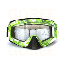 Adult Motocross Carting Motorcycle Dirt Bikers Sunglasses MX Off-Road Goggles bamboo style