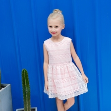 Latest Dress Designs Girls Dresses for Party and Wedding Sleeveless Grenadine Summer Casual Dress For Girl, Candydoll
