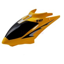 S107-01 Yellow Canopy Head Cover  For Syma S107G RC 3CH Gyro Helicopter Parts