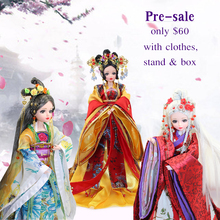 Factory Doll Joint Body East Charm Chinese Style With Clothes, Stand & Box
