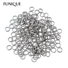 FUNIQUE Stainless Steel Circle Jump Rings Double-deck For Necklace Bracelets Jewelry Making Findings Accessories 4.5mm 200PCs
