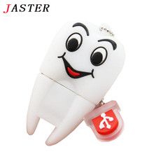 JASTER Pen Drive Gift Teeth Cute Model 8GB/16GB/32GB/64GB Usb Flash Drive, Tooth Flash Memory Stick Pendrive Dentist U Disk