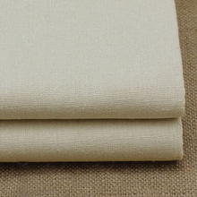 100*140cm solid beige linen fabric for sewing natural linen material for bedding table cloth zakka linen cotton fabric