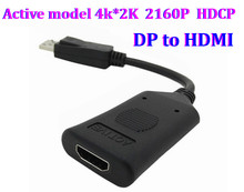 50set Active model 4k 2K 2160P HDCP DisplayPort 1.2 DP Male to HDMI Female Video Audio HDTV Converter Adapter Multiple Monitor