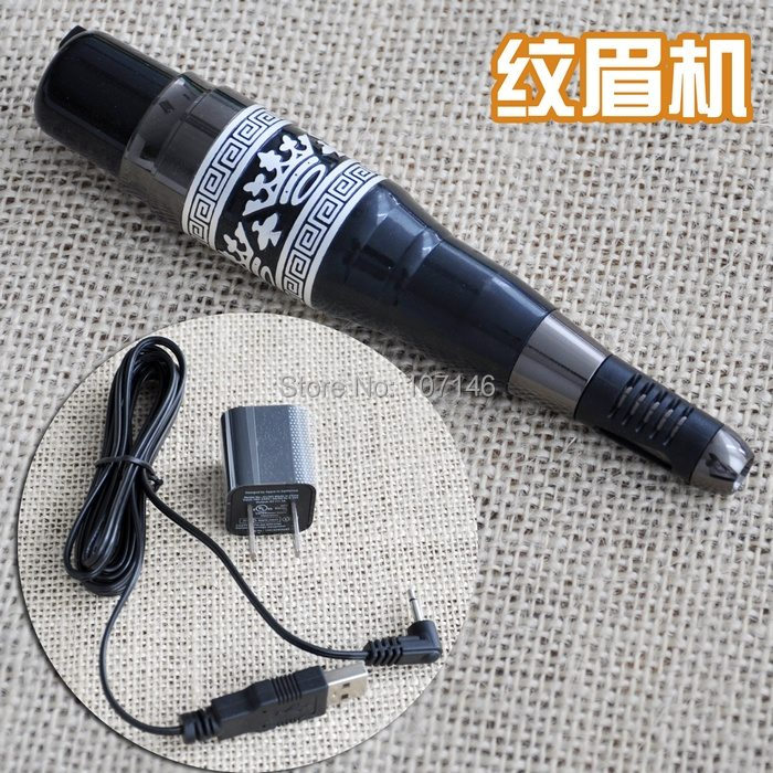 Eyebrow Makeup Machine Permanent Make-up Pen With Power Supply Adapter For Cosmetic Tattoo Top Grade(China (Mainland))