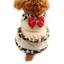 Armi store  Red Bow Decorated Dog Dress Dogs Autumn Winter warmth Dresses 6072009 Pet Clothes Supplies