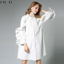 Buy LXMSTH Long Shirt Woman 2018 Autumn Fashion Ruffles Long Sleeve Plus Size Loose Shirts Women Cotton 100% White Cotton Blouses for $37.50 in AliExpress store