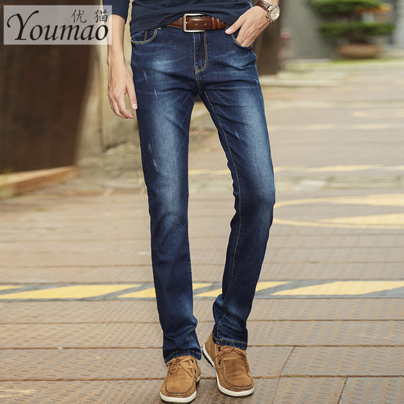 2015 autumn new models of mens casual fashion Slim Straight jeans men denim biker jeans  trousers male pants tide wholesaleОдежда и ак�е��уары<br><br><br>Aliexpress