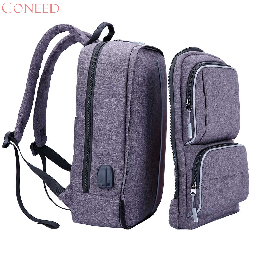 CONEED aptop Backpack for 15.6 inch Charging USB Port Computer Backpacks Male Waterproof Man Busines Dayback Women Travel Bags<br>