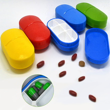 New 2016 Cute Mini 6 Slots Portable Medical Pill Box Drug Tablet Medicine Storage Dispenser Holder Case Organizer For Travel