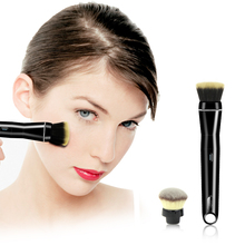 2017 Black 360 Degree Rotating Electric Makeup Brush Automated Makeup Brush Face Cream Cosmetic Blush Powder With Rechargeble(China)