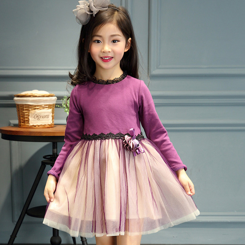 Kids Dresses For Girls Sweet Children Of New Fund Of 2017 Autumn Outfit Lace Princess Dress, Long Sleeve Dress Of The Girls <br><br>Aliexpress