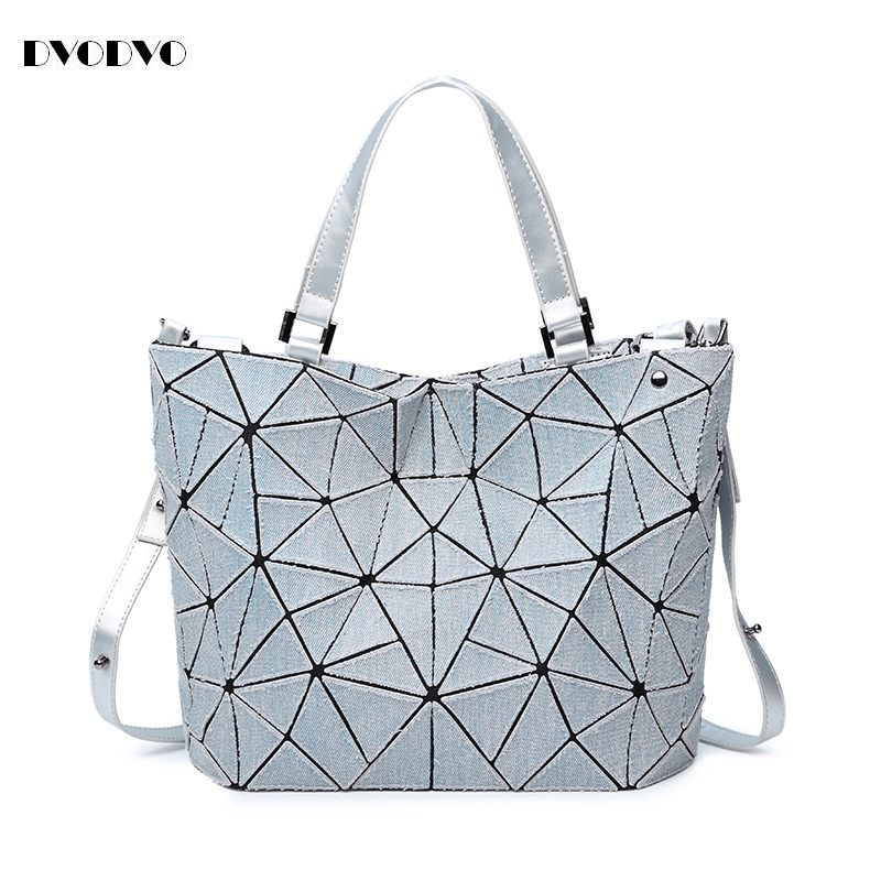DVODVO cowboy Geometry Bucket Sac Women Bags Sequins Mirror Saser Plain Folding bao bao Ladies Shoulder Bag Female Tote bags<br>