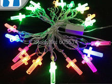 [Seven Neon]Free shipping 110V/220V cross shape 4M 20leds party/Christmas/decoration/holiday led string light(China)