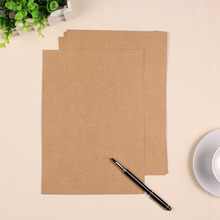 21*29.7cm A4 Brown Kraft Paper 80gsm Blank Kraft Paper 200pcs\lot Free shipping