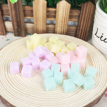 10 Pieces Resin Flatback Flat Back Cabochon Kawaii DIY Resin Craft Decoration Fake Artificial Cube Candy Sugar Accessories:10mm(China)